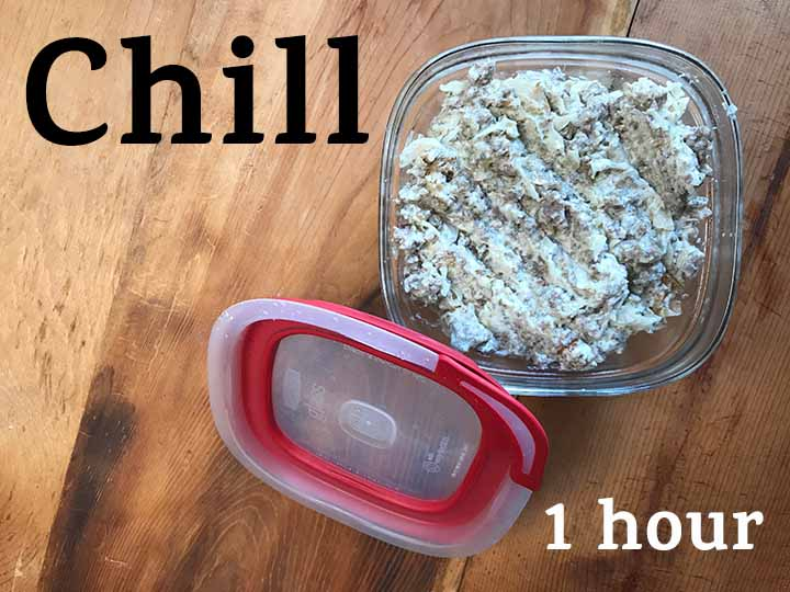 step 4 chill the sauerkraut and sausage mixture in the freezer for 1 hour