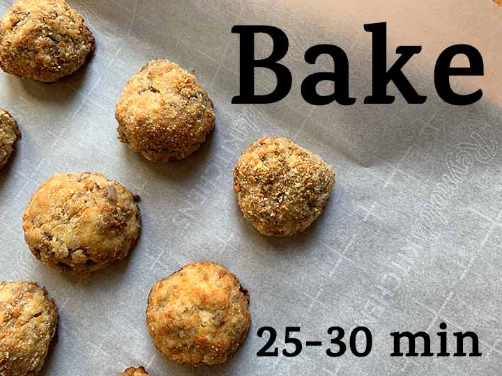 step 8 bake the sauerkraut balls for 25-30 minutes