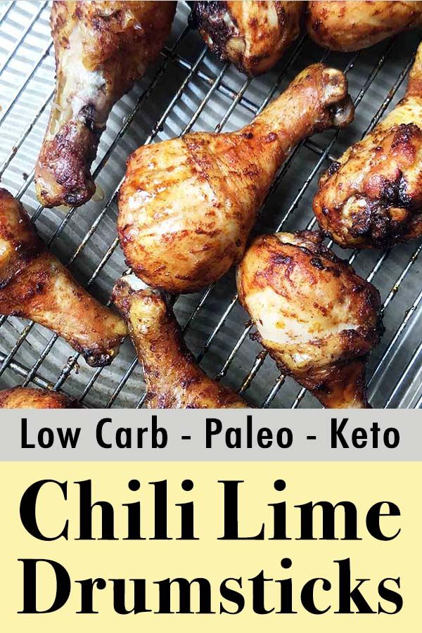 Low Carb Paleo Keto Chili Lime Chicken Legs Pinterest Pin