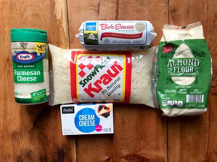 Ingredients for Paleo Fried Sauerkraut Balls