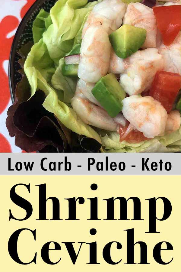 Low Carb Keto Paleo Shrimp Ceviche Pinterest Pin
