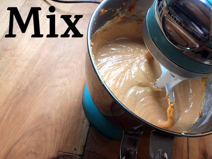 Step 2 mix the pumpkin cheesecake layer
