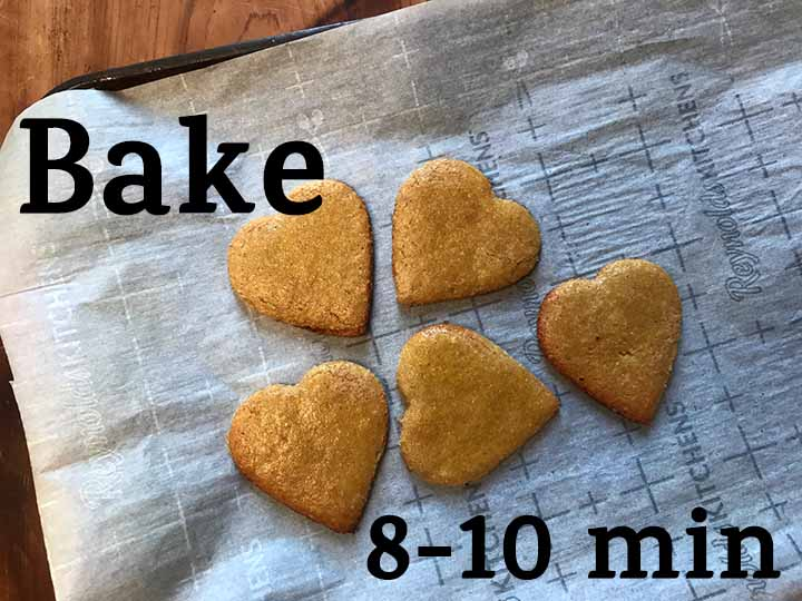 Step 9 Bake the cookies for 8-10 minutes in a 350 degree F oven