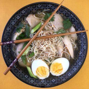 Low Carb Keto Chicken Ramen Soup