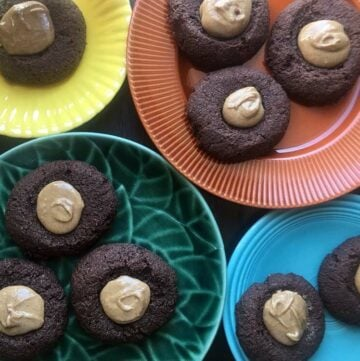Low Carb Keto Chocolate Peanut Butter Thumbprint Cookies
