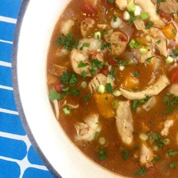 Low Carb Keto Chicken, Shrimp and Sausage Gumbo