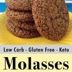 Low Carb Keto Molasses Cookies Pinterest Pin