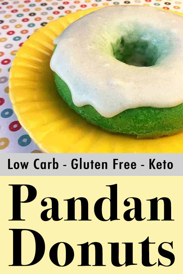 Low Carb Keto Pandan Donut Pinterest Pin