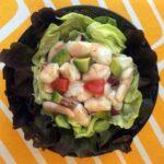 a plate of Keto Shrimp Ceviche on lettuce