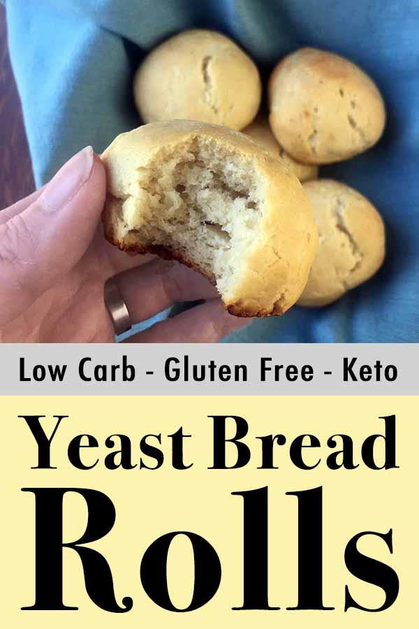 Low Carb Keto Yeast Bread Rolls Pinterest Pin