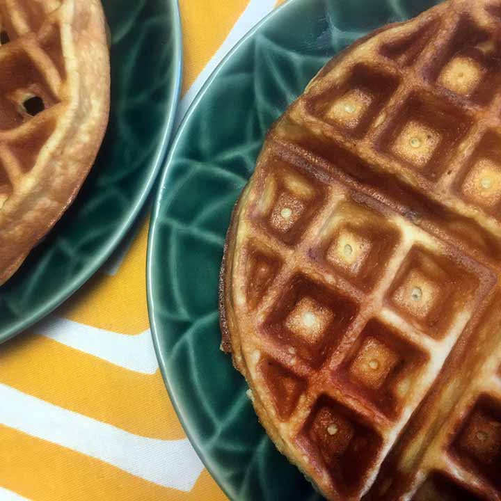 Low Carb Keto Banana Walnut Waffles