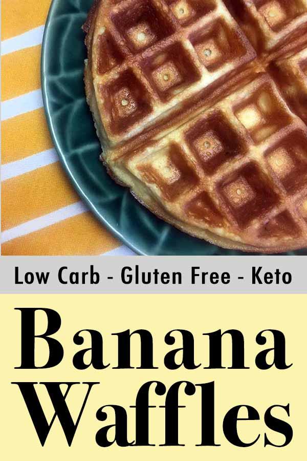 Low Carb Keto Banana Walnut Waffles Pinterest Pin