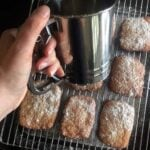 a cooling rack of Keto Beignets
