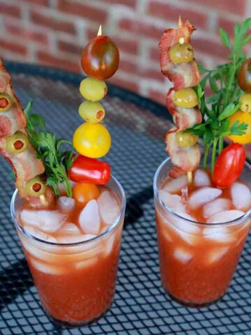2 glasses of Keto Bloody Marys