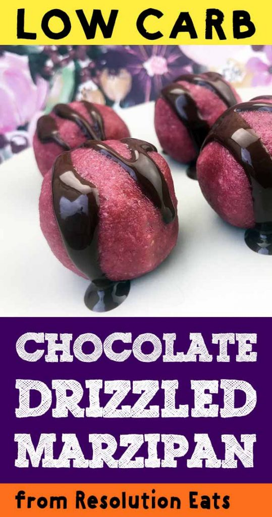 Low Carb Keto Chocolate Drizzled Marzipan