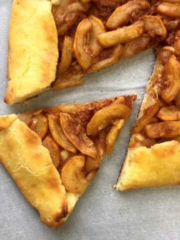 a slice of Keto Apple Galette Pastry