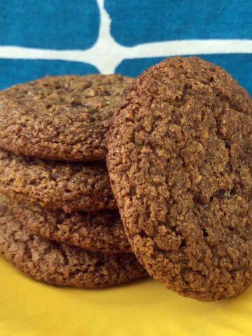 a stack of Keto Molasses Cookies