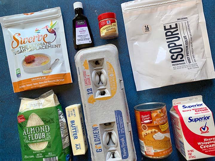 ingredients for sugar-free pumpkin pie