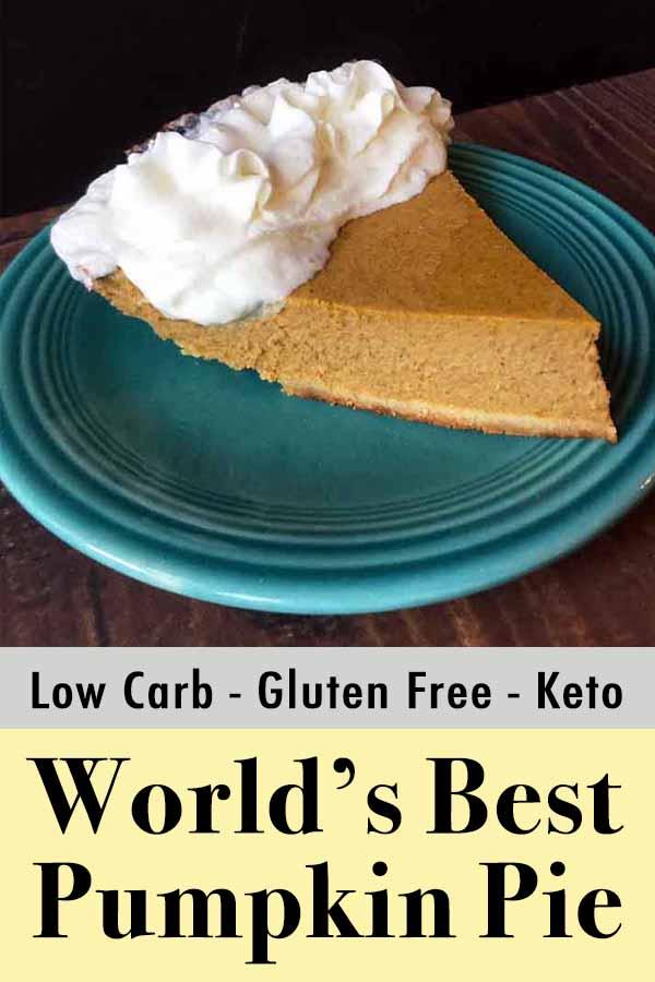 Low Carb Keto Pumpkin Pie Pinterest Pin