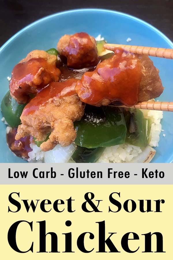 Gluten-Free Sugar-Free Sweet and Sour Chicken Pinterest Pin