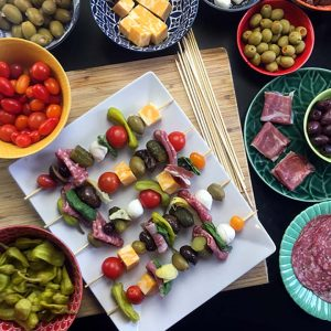 Low Carb Keto Antipasto Skewers