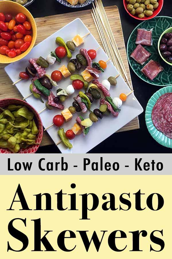 Low Carb Keto Antipasto Skewers