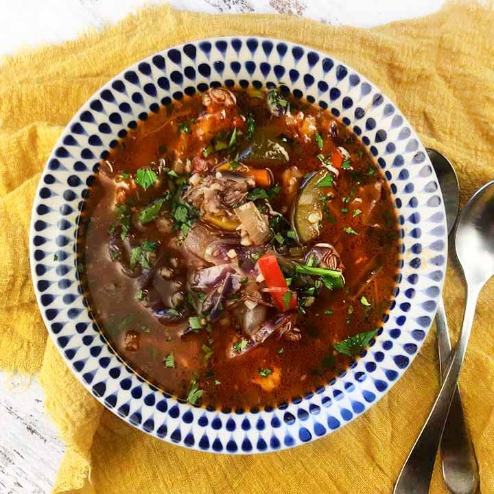 Low Carb Keto Beef Vegetable Soup