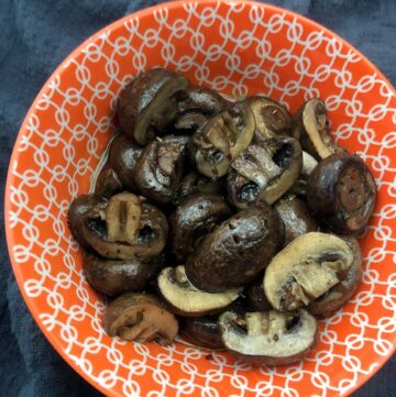 Low Carb Keto Marinated Mushrooms