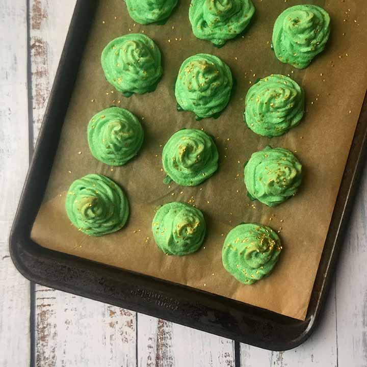 Low Carb Keto Christmas Tree Meringue Cookies