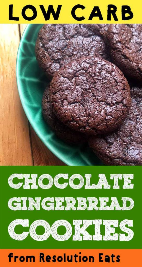 Low Carb Keto Chocolate Gingerbread Cookies