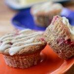 Low Carb Keto Orange Cranberry Muffin