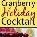Pinterest Pin for Cranberry Lemon Cocktail