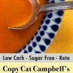 Low Carb Keto Cream of Tomato Soup Pinterest Pin