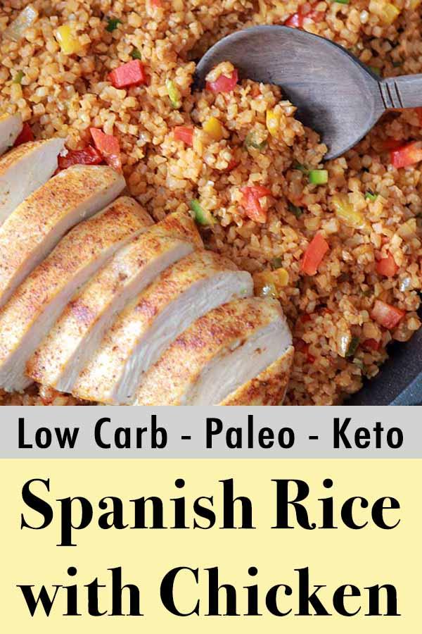 Paleo Whole30 Spanish Chicken Rice Pinterest Pin