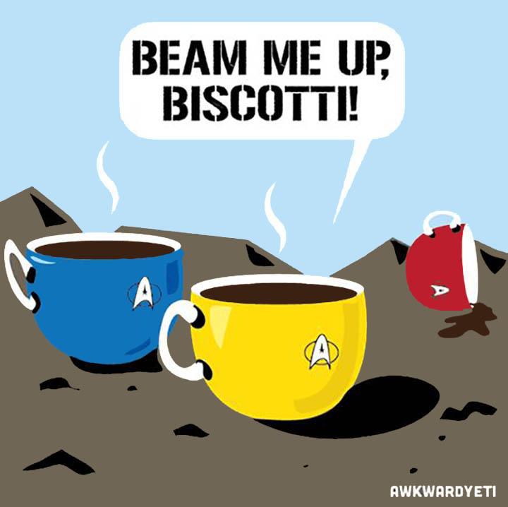 Beam Me Up Biscotti Cartoon