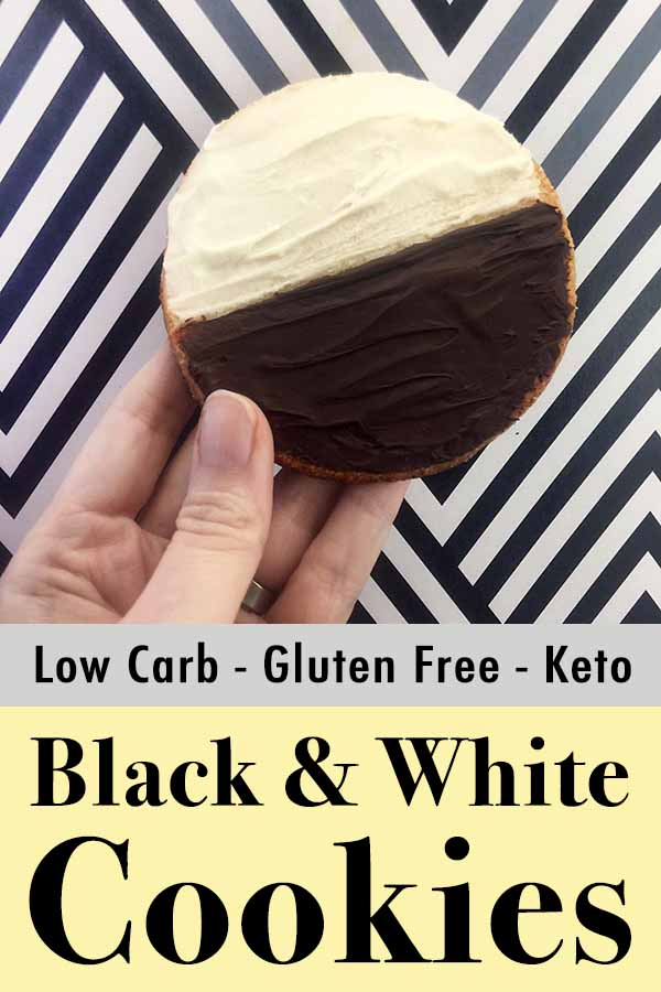 Gluten Free Black and White Cookies Pinterest pin