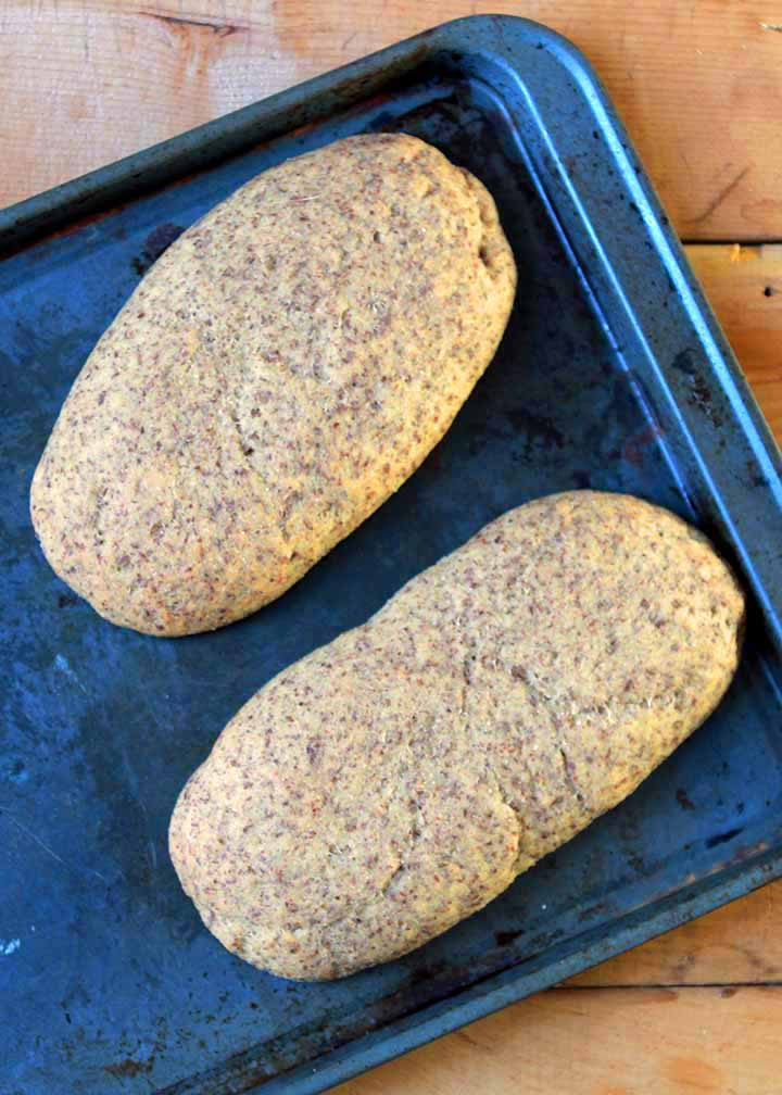 Keto Ciabatta Yeast Bread Rolls