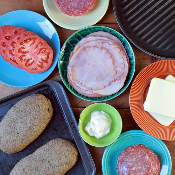 Keto Italian Ham and Cheese Panini