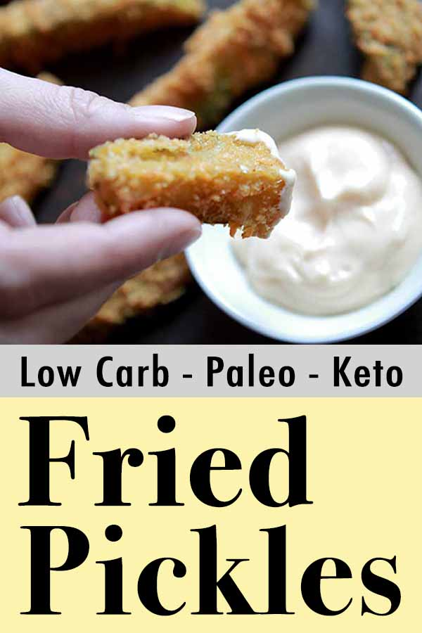 Gluten Free Fried Pickles Pinterest pin