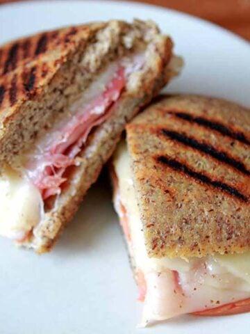 a Keto Panini Sandwich