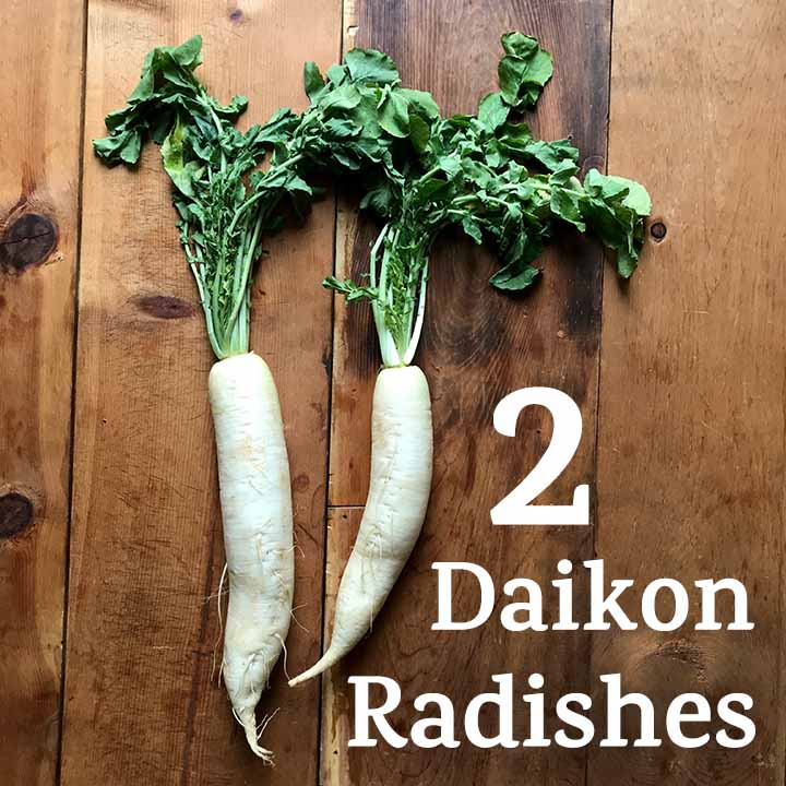2 daikon radishes