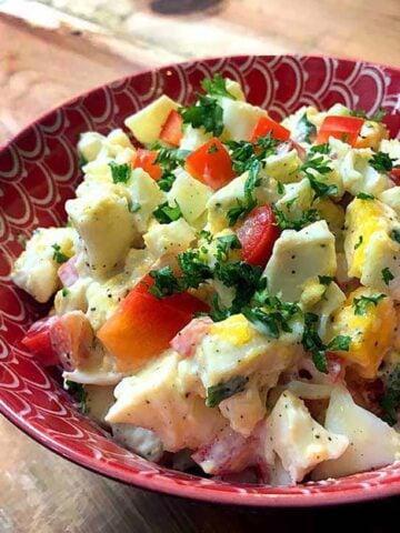 a bowl of Easy Keto Egg Salad
