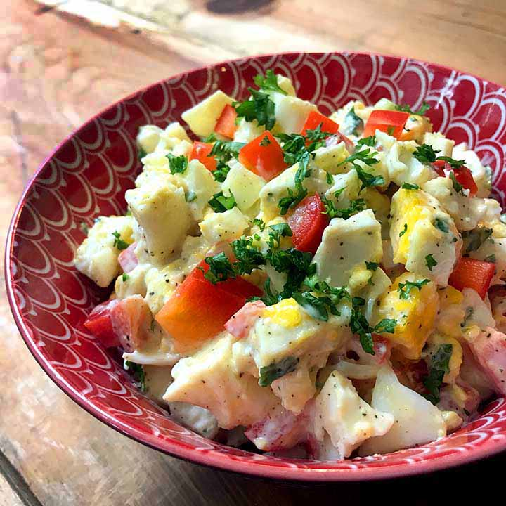 THM Egg Salad using Instant Pot