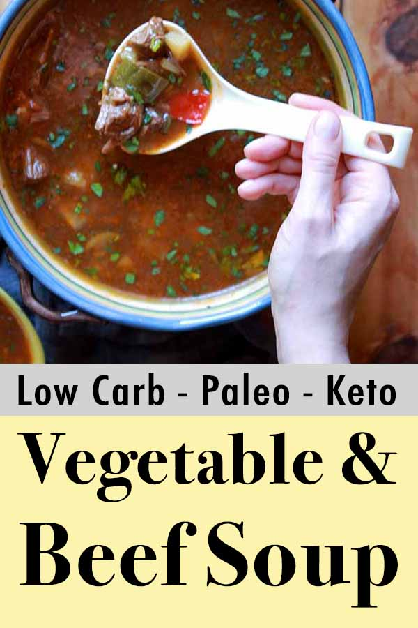 Whole30 Instant Pot Beef vegetable Soup Pinterest Pin
