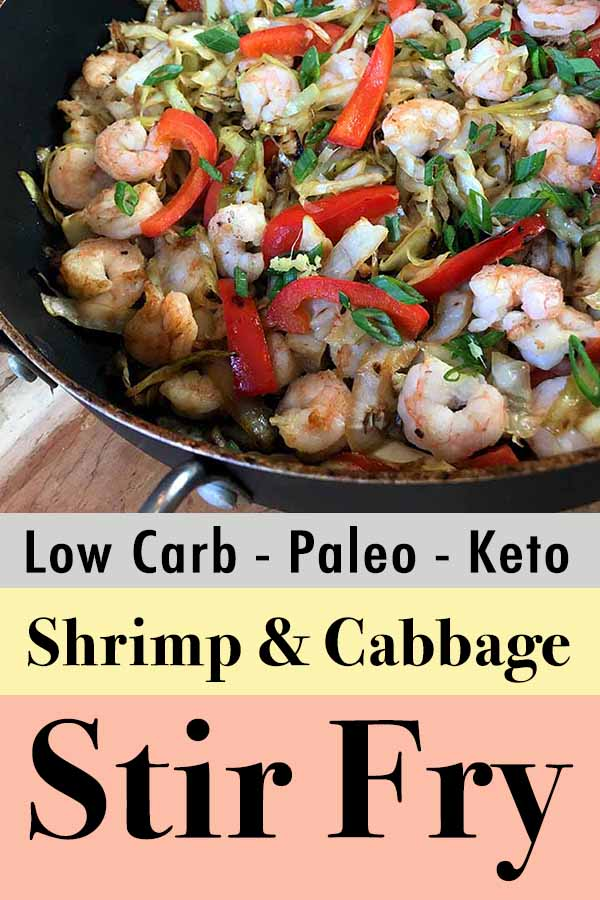 Healthy THM Shrimp and Cabbage Stir Fry Pinterest Pin