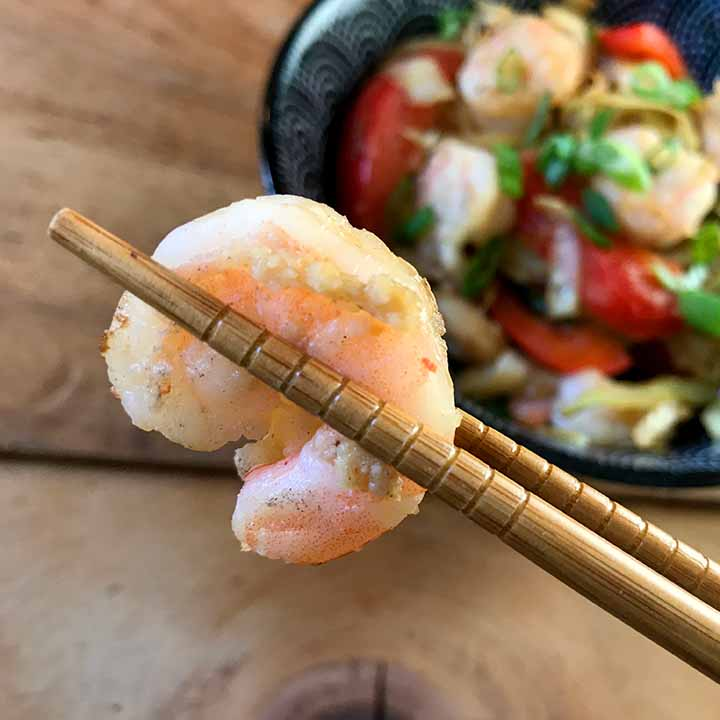 Whole30 Shrimp and Cabbage Stir Fry
