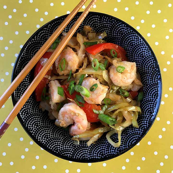 Asian Shrimp and Cabbage Stir Fry