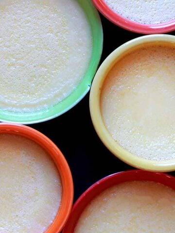 5 cups of Keto Egg Custard
