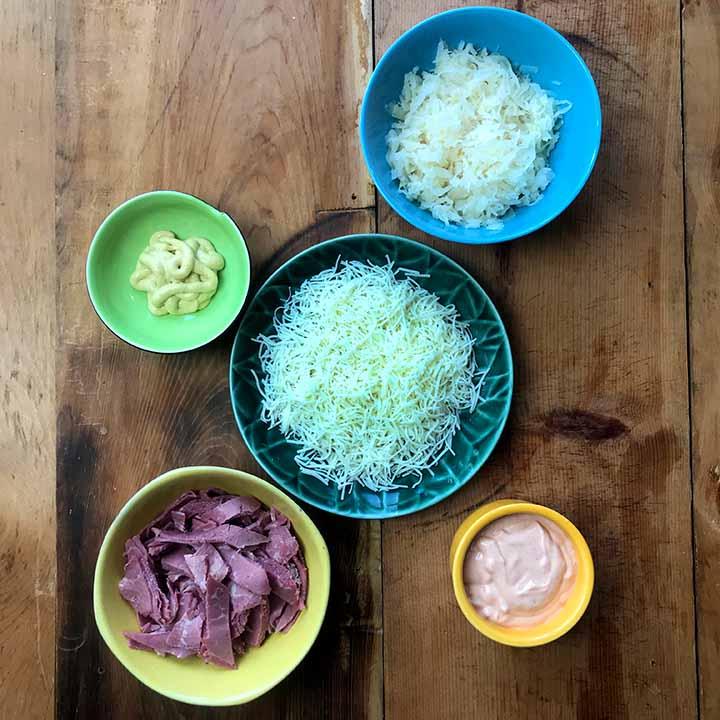 Low Carb Keto Reuben Skillet Ingredients