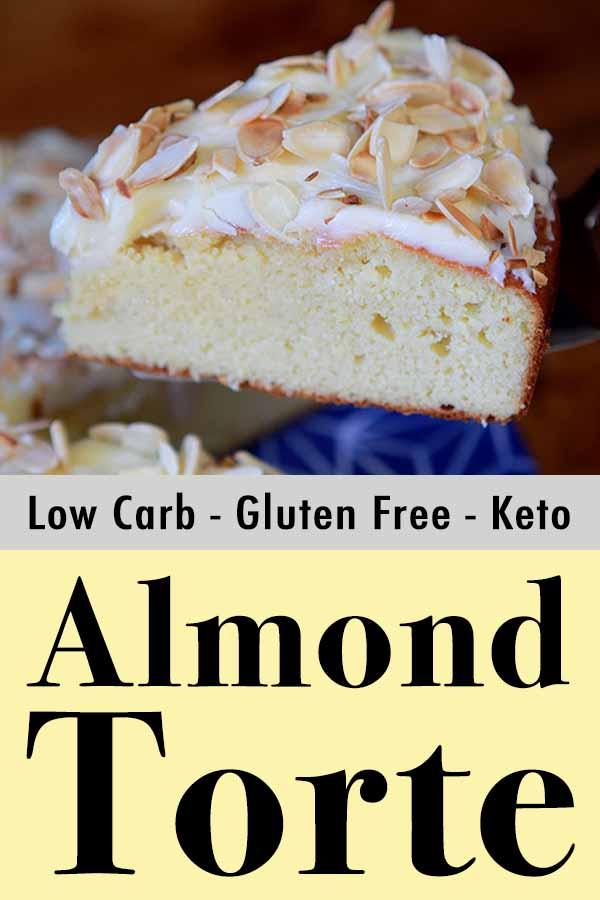 Paleo Toasted Almond Torte Pinterest pin